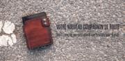 Bannière bandit portefeuille cuir biker