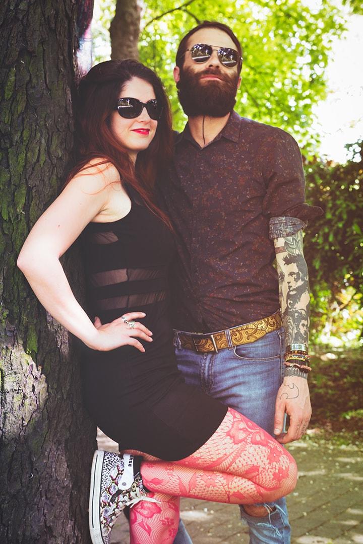 couple homme femme rock tatoué mode