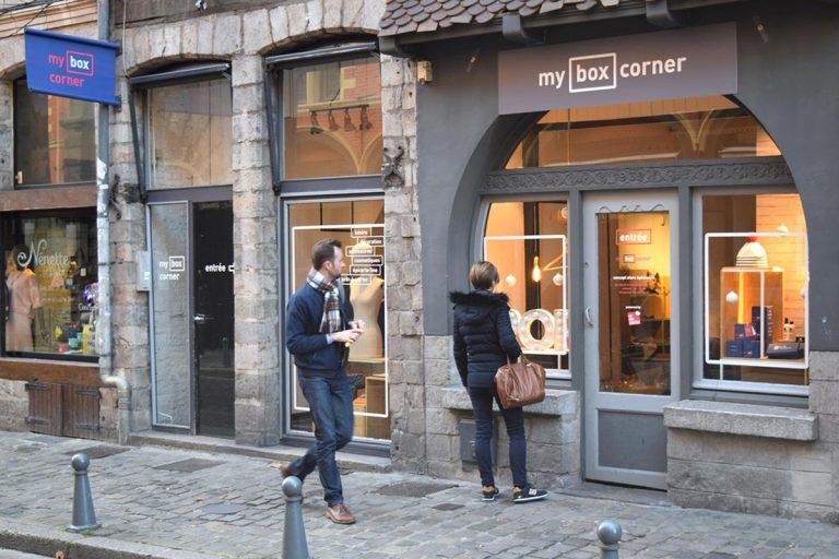 façade boutique box corner