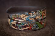 ceinture dragon japonais gravé