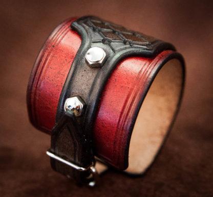 detail bracelet rouge inox
