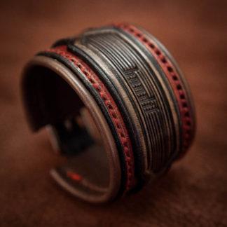 bracelet cuir rock homme