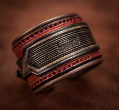 bracelet rock cuir homme custom