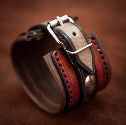 bracelet rock cuir homme custom 02