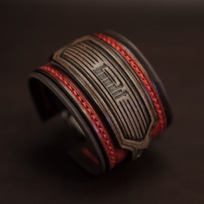 bracelet rock cuir homme custom 04