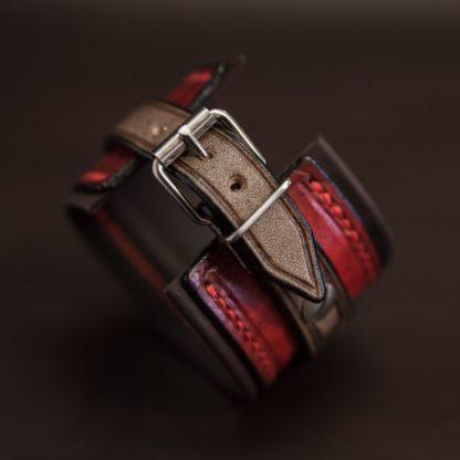 bracelet rock cuir homme custom 05