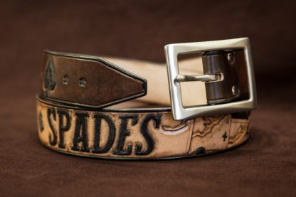 ceinture cuir ace of spades motorhead