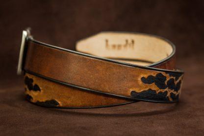 ceinture cuir homme personnalisée artisanale