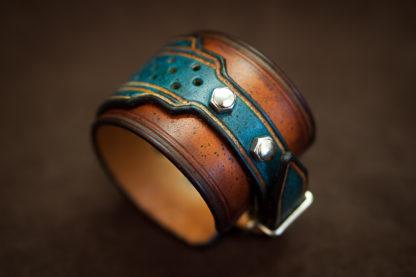 bracelet homme rock boulons