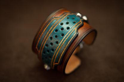 bracelet cuir homme biker