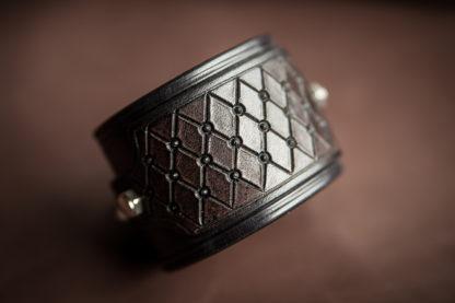 bracelet cuir biker noir