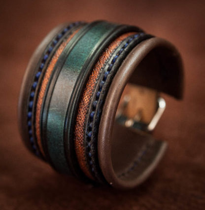 bracelet-cuir-bleu