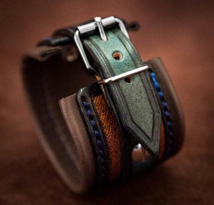 bracelet-cuir-homme-bleu-boucle