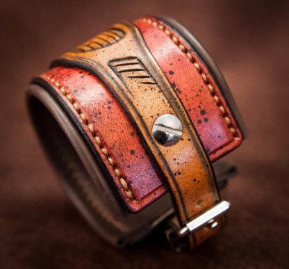 Bracelet en cuir homme gravé