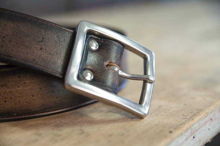 boucle inox ceinture cuir homme