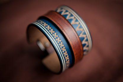 bracelet norway homme cuir bleu artisanal