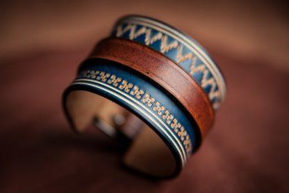 bracelet norway cuir motifs norvégiens homme