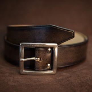 ceinture noir boucle carré