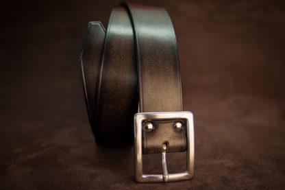 ceinture noir de costume à boucle carré