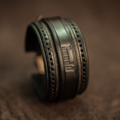bracelet cuir noir de créateur bandit france