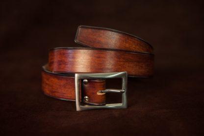 ceinture cuir marron sur mesure