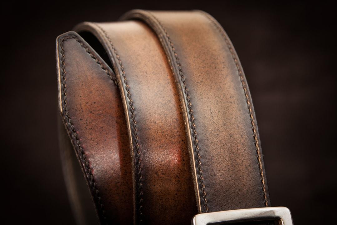 ceinture cuir costume doublée