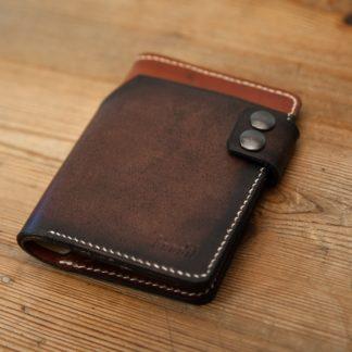 portefeuille en cuir marron tan rock biker-4