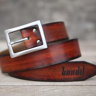 ceinture cuir logo bandit