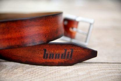 ceinture cuir sur mesure made in france logo Bandit