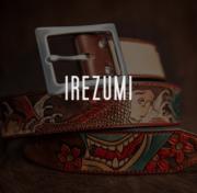 ceinture cuir gravée motif irezumi