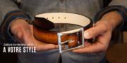 commandez ceinture cuir homme sur-mesure