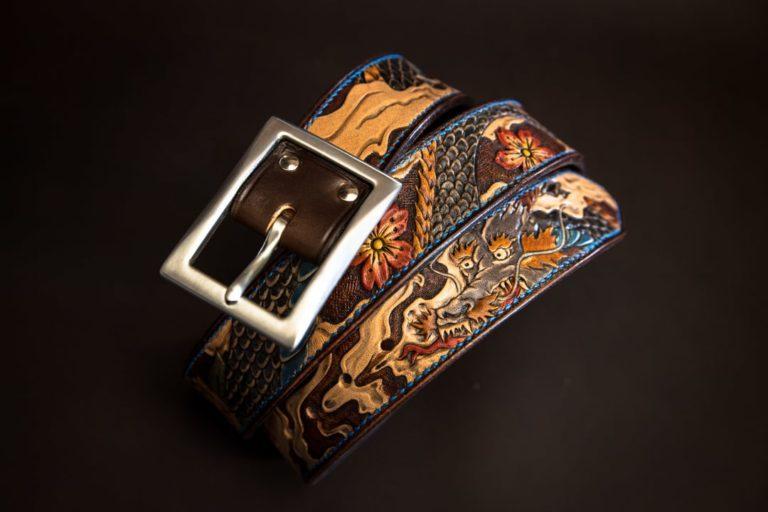 ceinture gravée personnalisée motifs japonais