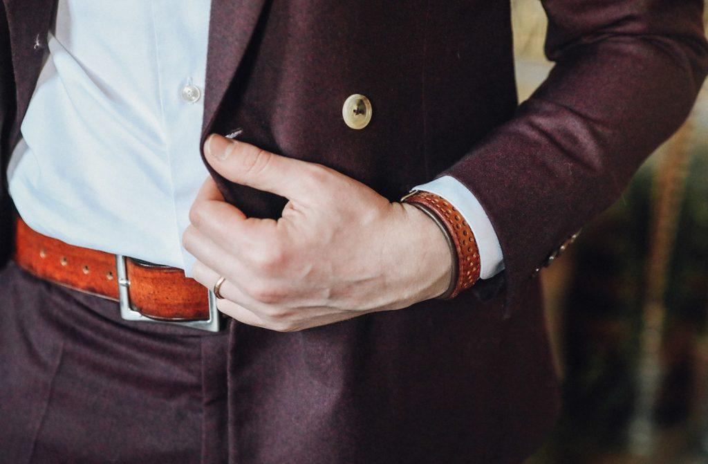 bracelet et ceinture costume homme