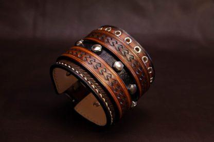 bracelet de force cuir homme rock