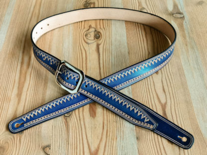 sangle guitare western bleue norway plan large